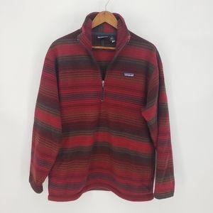 Patagonia Fleece Striped Half Zip Pullover